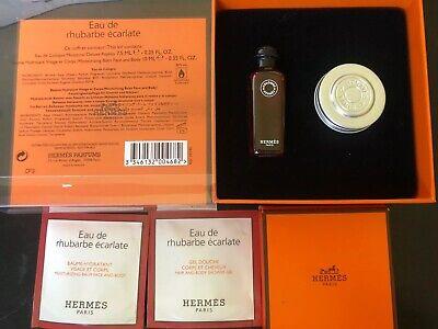 Hermes Eau de Rhubarbe Ecarlate .25 mini+ Body Cream Mini In Box Hermes Body Cream