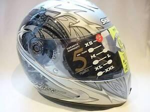 Shark MC Safety Helmet Saig, Size: XS, S800-003910, Blade Silver. Prospect Launceston Area Preview