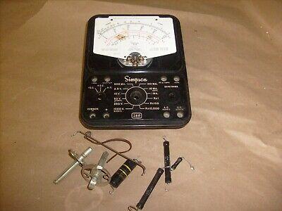 Simpson 260 Series 3 Analog Volt Ohm Meter - Parts Lot - Front Case