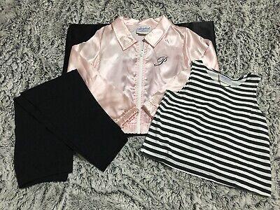 Pink Ladies Jacket For Girls (Vintage Storybook Heirlooms 50's Girls Pink Ladies Jacket Costume Girls Size)