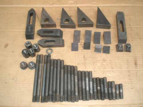 """Lot of Milling machine stair step blocks and 1/2"""" bolts plus more"""
