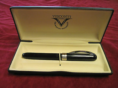 VISCONTI REMBRANDT VARIEGATED RESIN BLACK ROLLER PEN 48391