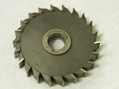 4 DIA x 5//8 Face x 1-1//4 Hole x 18 Teeth HSS Import Staggered Tooth Side Milling Cutter