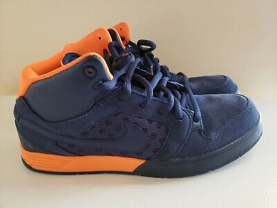 3517b8be0e Nike Men's Mogan Mid Skateboard Shoes Size 9 Obsidion Blue/Orange GUC**