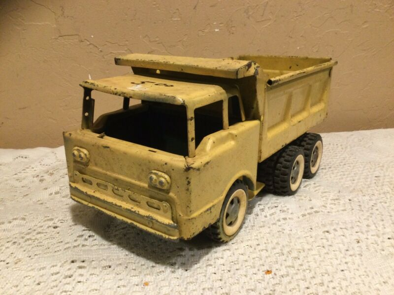 Vintage 1960's Structo Dumper Pressed Steel Ford Dump Truck-Parts/Restore