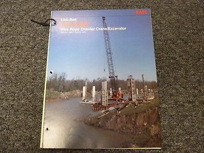 Link-belt Ls-338 Excavator Crane Specifications Lifting Capacities Manual