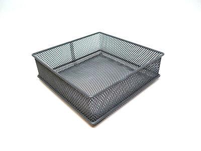 Wire Basket Desk Organizer Bin Desktop Drawer Gray Office Home 6 W X6l 2h