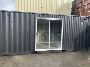 20' Shipping Container with Glass Sliding Door