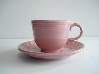Homer Laughlin Fiestaware pink cup and saucer