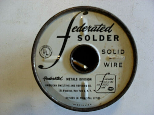 Federated 95/5 solid wire, vintage 5lb. spool