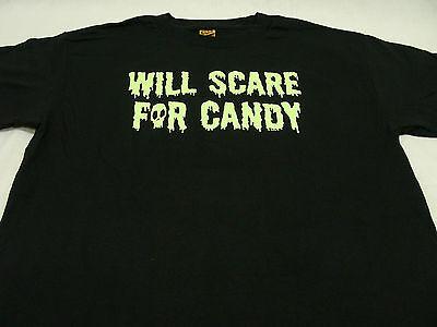 Erschrecken Halloween (Will Erschrecken für Süßigkeiten - Extragroß Größe Halloween T-Shirt)
