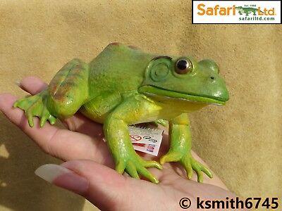 Safari BIG AMERICAN BULLFROG solid plastic toy wild zoo animal frog * NEW *💥