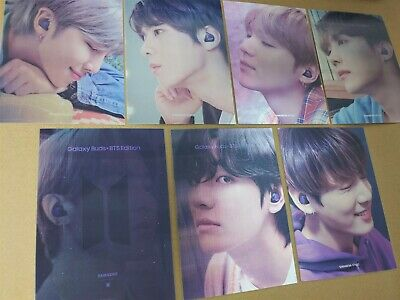 [Official] BTS Weverse shop Samsung Galaxy Lenticular Photocard set 7pcs