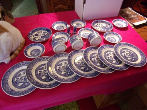 Willow Ware by Royal China dish set - BLUE -