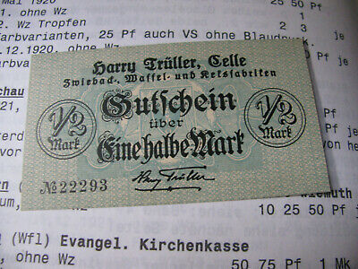 Celle Harry Trüller Zwiebackfabriken  halbe Mark