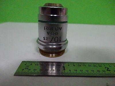 Microscope Part Objective Ao 10x Achromat American Optics As Is Binw3-35