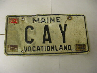 1986 86 1987 87 1888 88 Maine ME License Plate CAY Vanity