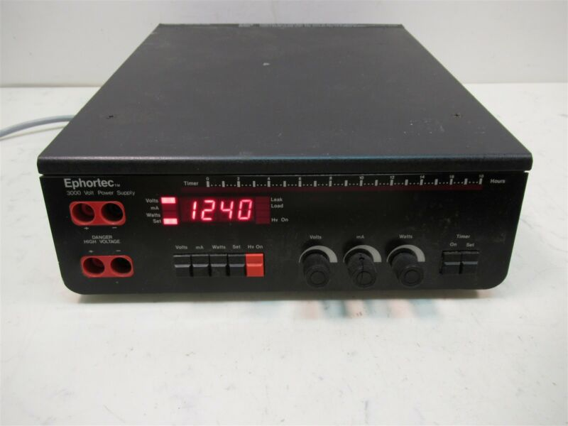 Haake Buchler Ephortec 3000 Volt Electrophoresis Power Supply Laboratory Unit
