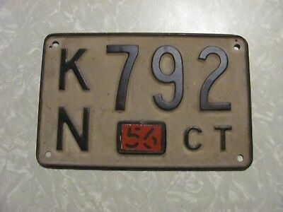 1956 CONNECTICUT LICENSE PLATE FREE SHIPPING