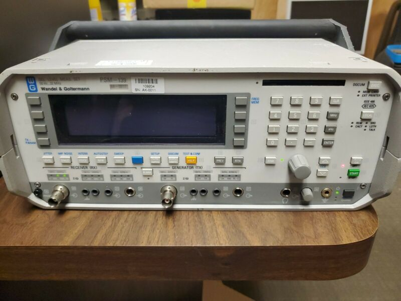 Acterna / Wandel & Goltermann PSM-139 Selective Level Meter, Used 2