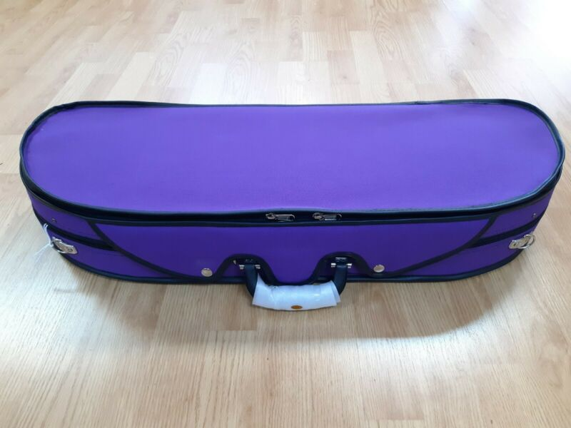 VIOLIN CASE PURPLE-HALF MOON-DELUXE LIGHTWEIGHT-4/4-FIDDLE-PROTECTION-MAKE OFFER