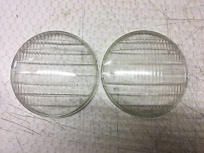 """WOW Pair Vintage Car Truck Auto EXPORT HEADLAMPS light 6-7/8"""" GLASS Sedan Parts for sale  Shipping to South Africa"""
