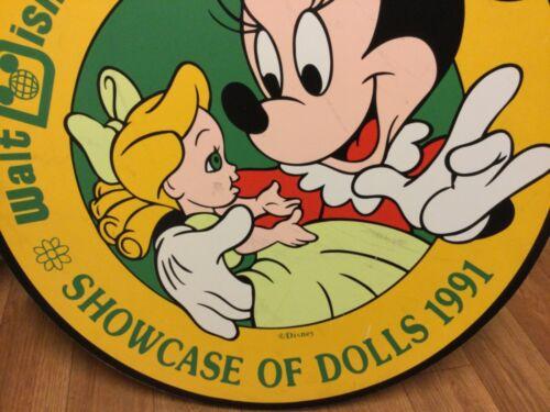 Rare Disney Prop Lamp post sign...1991 Showcase of Dolls Walt Disney World.
