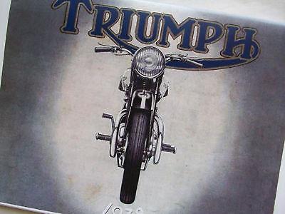TRIUMPH MOTORCYCLES 1938 SALES BROCHURE