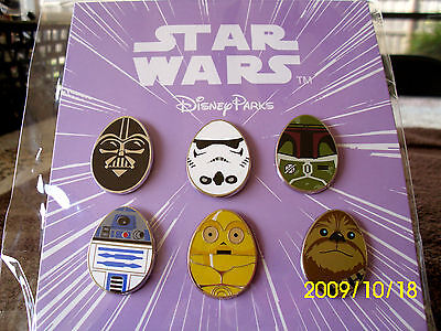 Disney * STAR WARS - EASTER EGG CHARACTERS * 6 Pin Booster Set - New in - Easter Eggs Star Wars