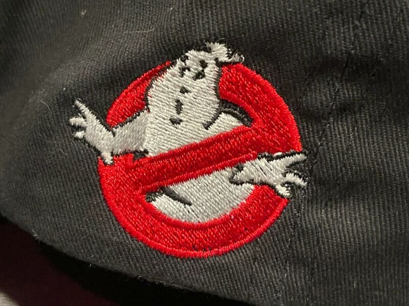 Rare Ghostbusters Ghostlight Picture Vehicles Production Adjustable Crew Hat BLK