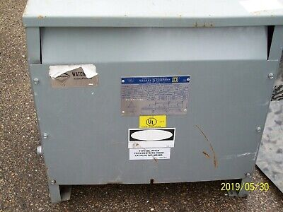 Square D 15t3hf 15 Kva Transformer 3 Phase High Voltage 480 Low Voltage 208y120