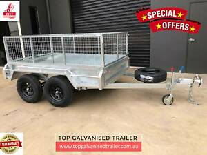 8x5 Box Trailer Tandem Heavy- Duty Fully Welded New Light Truck Tyres