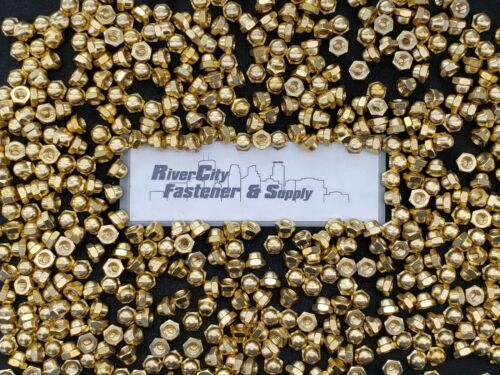 (25) 1/4-20 Brass Acorn / Dome / Cap Hex Nut 1/4 x 20 Nuts 1/4x20 Nut