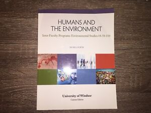 Humans and the Environment UWindsor