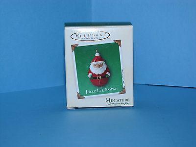 Hallmark Miniature Ornament Jolly Lil Santa 2003