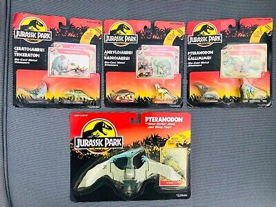 X4 Carded Jurassic Park Kenner Diicast And Pteranodon