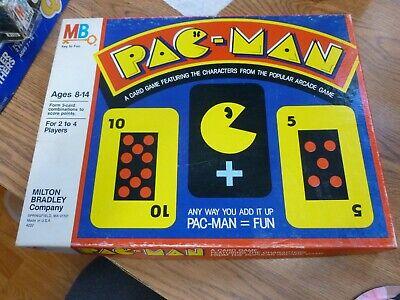 Vintage 1980 PAC-MAN ARCADE CARD BOARD GAME Milton Bradley