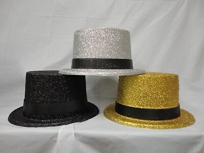 3 Colors Adult Dress Up Party Halloween Costume Accessory TOP Hat Magic; 6 COUNT - Top Hat Costume