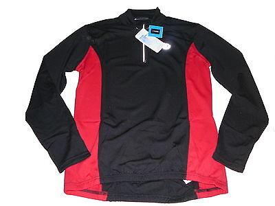 NEU 4 Sports langarm Fahrradshirt / Trikot Gr. L 44 / 46 schwarz-rot !! ()