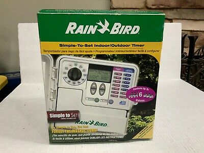 Rain Bird 6-Station Indoor Simple-To-Set Irrigation Timer SST6000 6 Zone