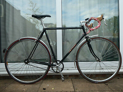 FW Evans Fixed Wheel vintage road bike with Campagnolo headset