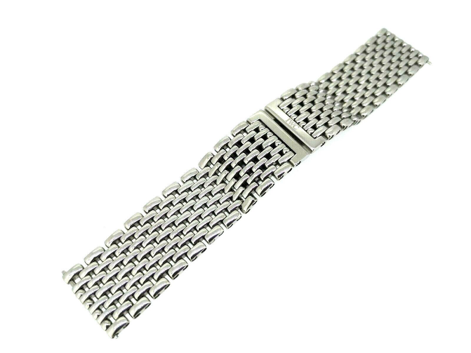 IWC Schaffhausen Original Stahl Uhrband für Da Vinci 19mm Anstoss, Damen Länge