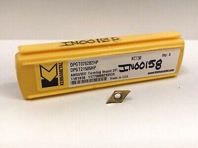 Kennametal Dpgt21505hp Dpgt070202hp New Carbide Inserts Grade Kc730 5pcs