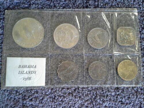 1966 Bahamas 7 pcs Mint Set KM#MS2 - KM#2,3,4,5,6,7,8 .800 Silver ASW of 0.7333