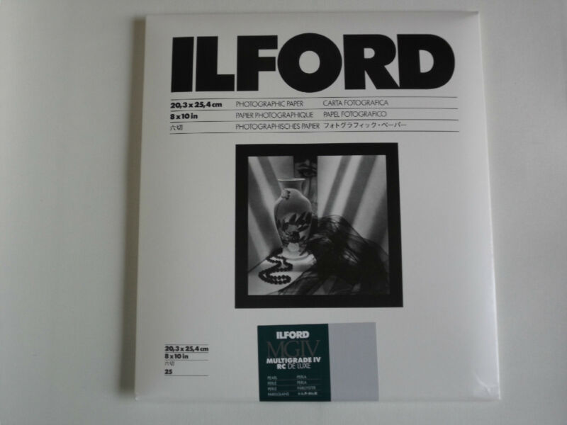 ILFORD MGIV RC DELUXE 8x10 PEARL 25 DARKROOM PAPER