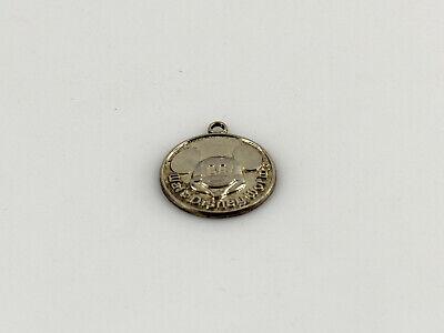 Disney Mickey Round Charm - Sterling Silver Signed Disney Mickey Mouse Round Pendant Charm