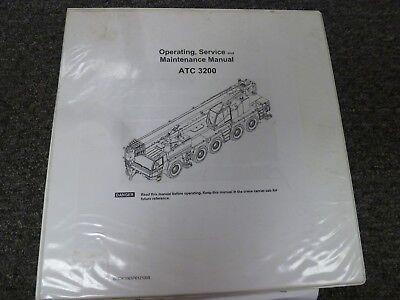 Link Belt Atc3200 All-terrain Crane Operator Maintenance Service Repair Manual