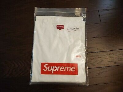Supreme Small Box L/S Tee White - Size Medium
