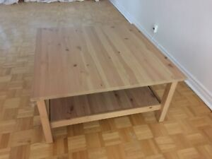Hemnes Ikea : tv bench and table