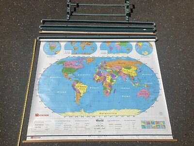 Asia West Pacific Political Wall Map 39.5 x 34.5 Matte Plastic